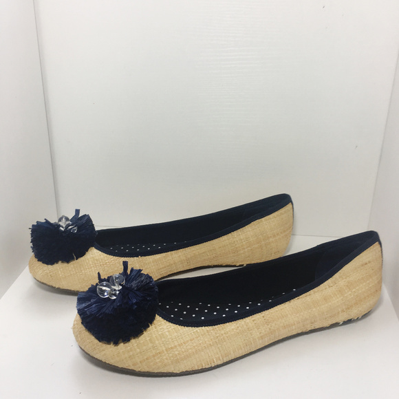Sperry Shoes - Sperry | Raffia Bow Beaded Top Slider Ballet Flats